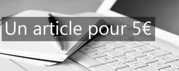 rédiger un article entre 400 et 600 mots