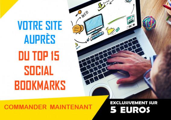 référencer votre site auprès du TOP 15 social Bookmarks