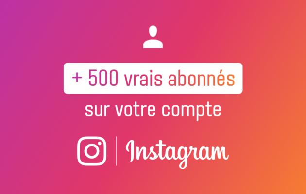 vous ajouter 500 vrais followers Instagram