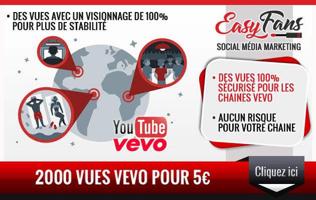 vous fournir 2000 vues Vevo