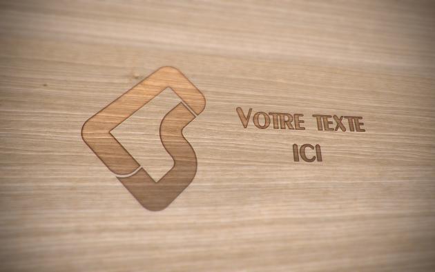 graver un logo ou un nom sur du bois