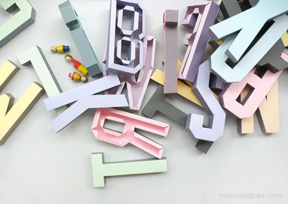vous envoyer des fiches pour imprimer des lettres en 3d