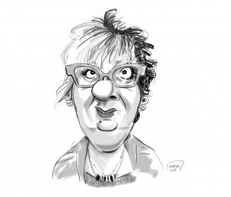 vous caricaturer en noir et blanc ( visage + buste )
