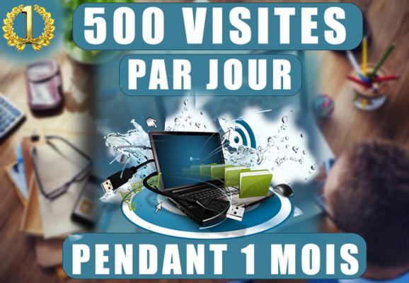 augmenter votre trafic de 500 visiteurs par jour pendant 1 mois