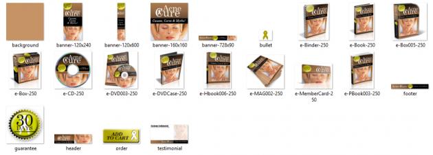 vous adresser un pack graphique entier sur le thème acne