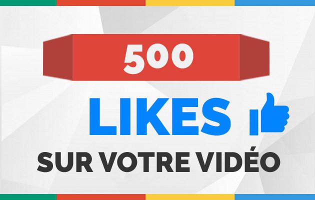ajouter 500 vrais likes sur votre vidéo Youtube
