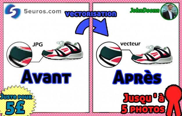 vectoriser votre jusqu'à 5 logos/photos