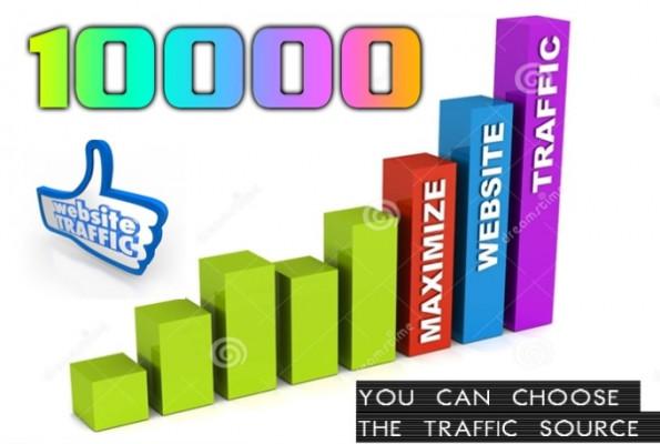 vous envoyer 10'000 vrais visiteurs de Google ou autres sources
