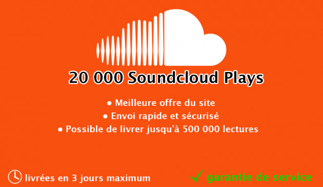 ajouter 20000 plays sur la musique Soundcloud de votre choix