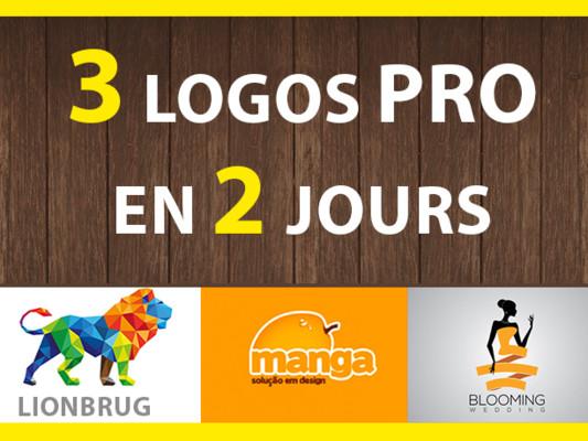 créer 3 logo premiums et professionnels