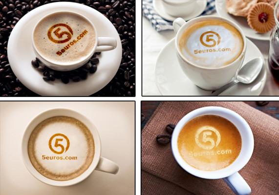mettre votre nom ou votre logo sur 4 verres du café