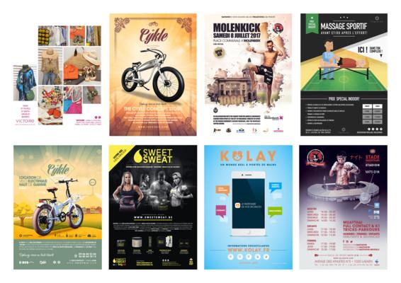 créer un flyer ou une affiche Pro