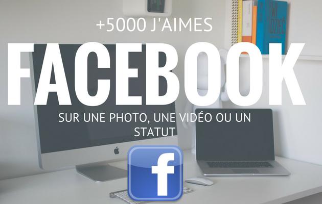 vous fournir 5000 likes sur un statut ,une vidéo, une photo de votre page Facebook