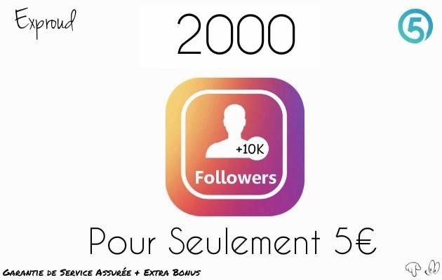 vous fournir 2000 Followers réels a votre Profil INSTAGRAM