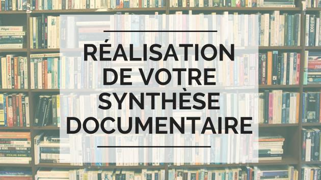 réaliser votre recherche documentaire/synthèse documentaire/étude bibliographique
