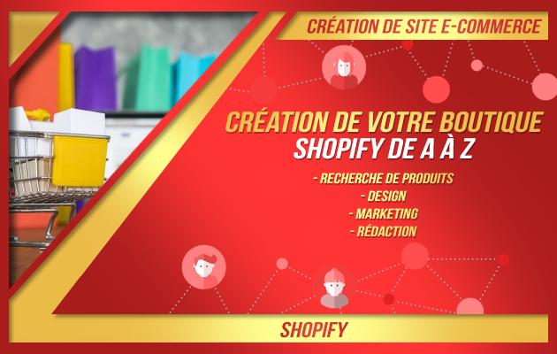 vous aider à créer votre site e-commerce sur Shopify