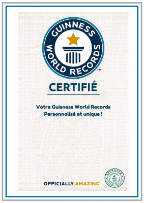vous créez votre Guisness World Record personnalisé
