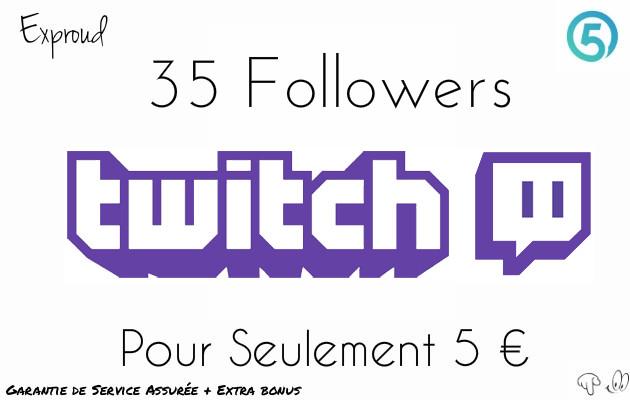 ajouter 35 followers sur votre compte TWITCH