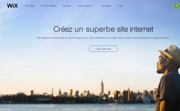 créer votre site web sur wix