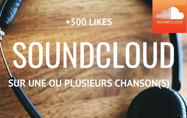 vous fournir 500 j'aimes sur une ou plusieurs de vos chansons sur SoundCloud
