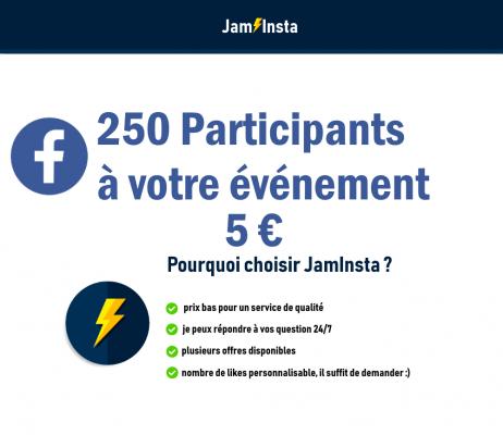 ajouter 250 intéressés à votre événement Facebook