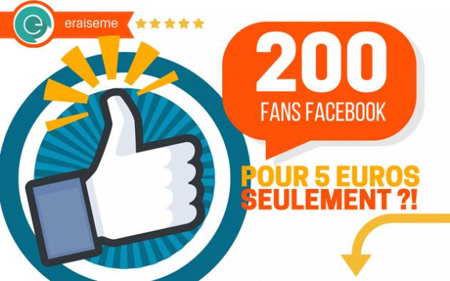 vous permettre d'obtenir 200 fans FRANÇAIS sur votre page Facebook