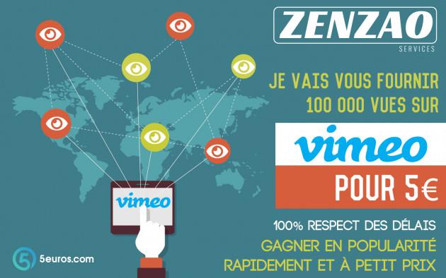 vous fournir 100 000 vues sur Vimeo