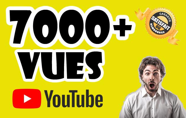 envoyer 7000+ visiteurs sur votre vidéo YouTube
