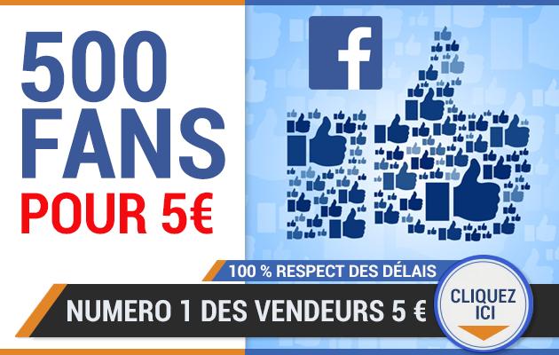 vous fournir 500 fans facebook pour votre page