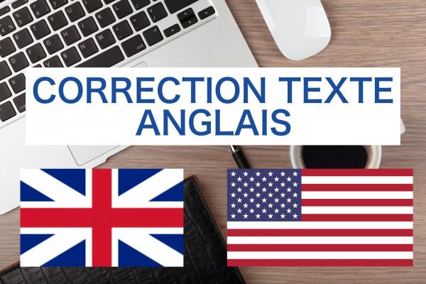 corriger vos textes anglais: site Web, articles, ebooks, mémoires...