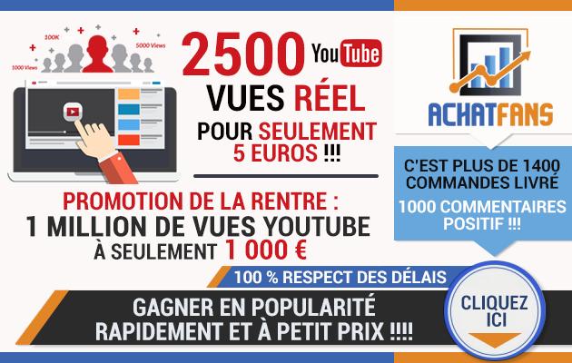 vous fournir 2500 vues réelles youtube
