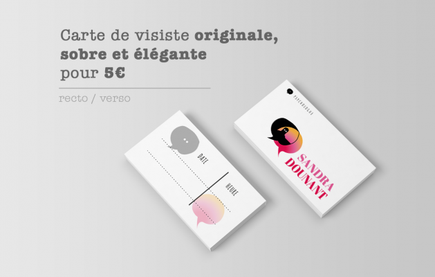 Je Vais Creer Votre Carte De Visite Recto Verso Originale Sobre Et Elegante Pour 5 EUR