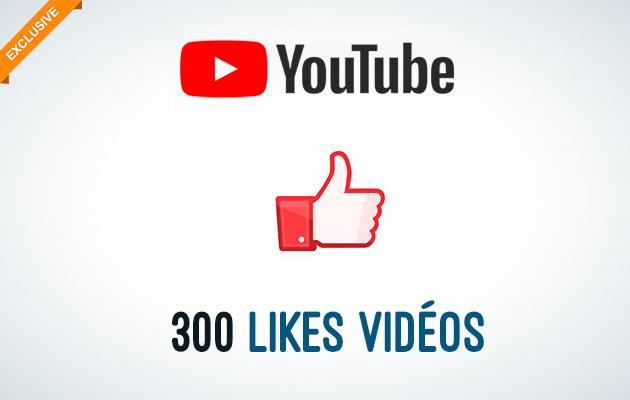 ajouter 300 Likes sur vos Vidéos Youtube