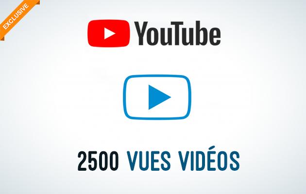 vous offrir +2500 vues Youtube réels et de Haute rétention