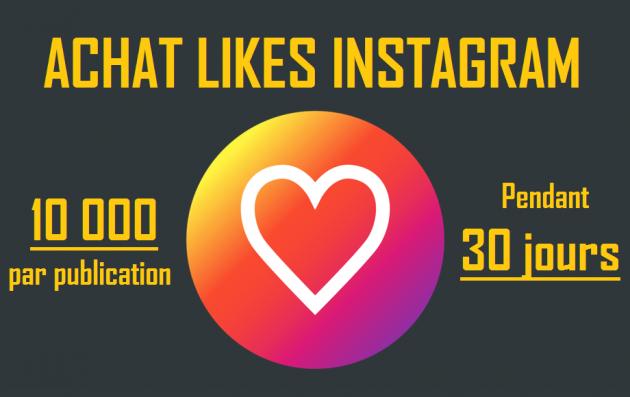 ajouter 100 LIKES Instagram sur vos 30 prochaines publications