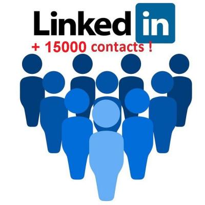 vous ajouter à mon réseau LinkedIn(15000 contacts)+ajouter +1  à 10  compétences