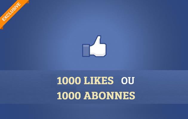 vous ajouter 1000 Facebook Page Likes ou Abonnés à votre Profile
