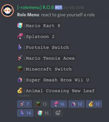 créer un menu d'auto rôles discord
