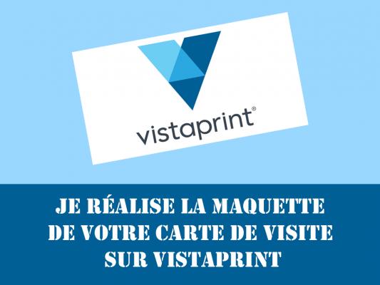 Je Vais Raliser Votre Maquette De Carte Visite Directement Sur VistaPrint Pour 5 EUR