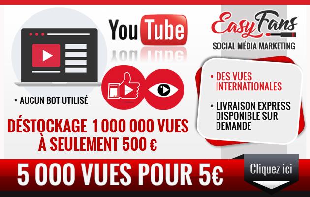 vous fournir 5000 vues YouTube Réelles
