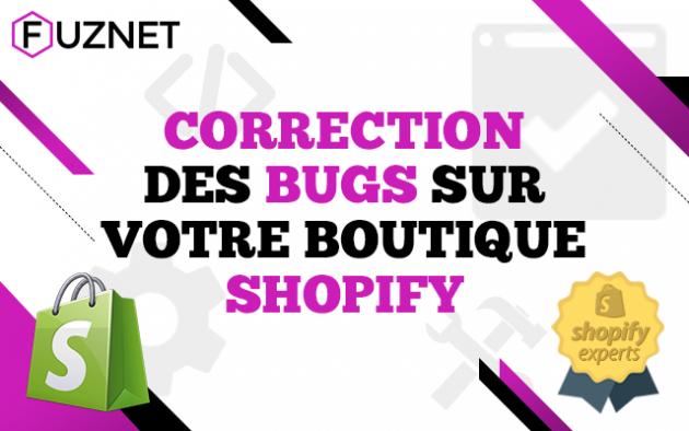 corriger un problème / fixer un bug sur votre site Shopify