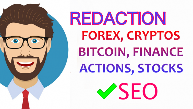 rédiger sur le FOREX, BITCOIN, ICO, CRYPTOS, FINANCE