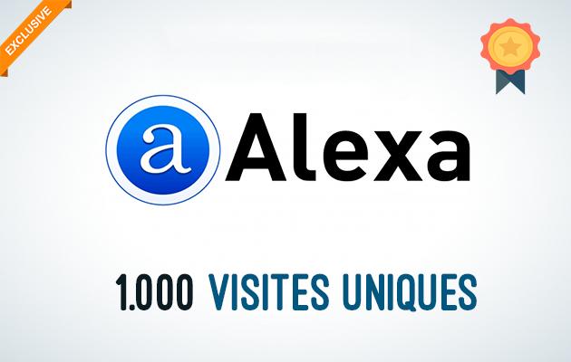 vous ramener 1000 visites uniques depuis Alexa.com