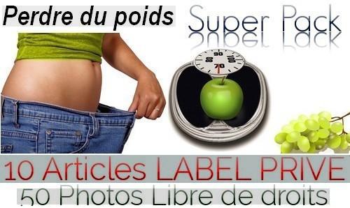 """vous fournir un pack """"Perdre du poids"""" 10 Articles label privé + 50 Photos Libres de"""