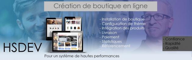 créer votre boutique en ligne sous CMS Prestashop