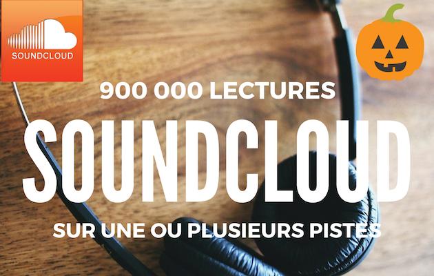vous fournir 900 000 lectures SoundCloud sur une ou plusieurs de vos chansons