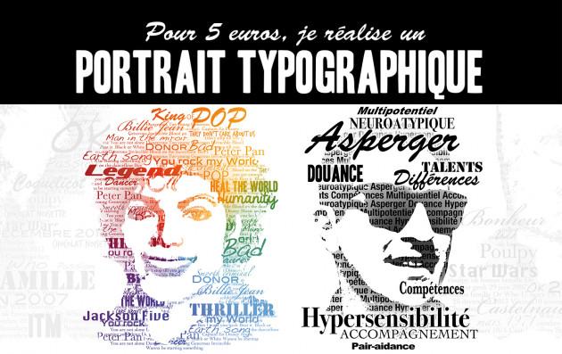 réaliser un portrait typographique