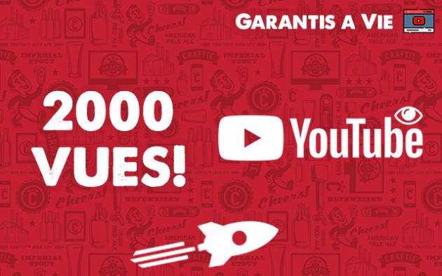 ajouter 2000 Vues YouTube Réel et à Haute Rétention