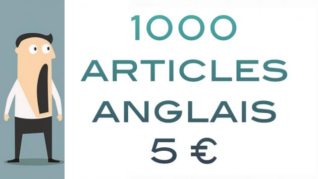 donner plus de 1000 articles en anglais tout thème