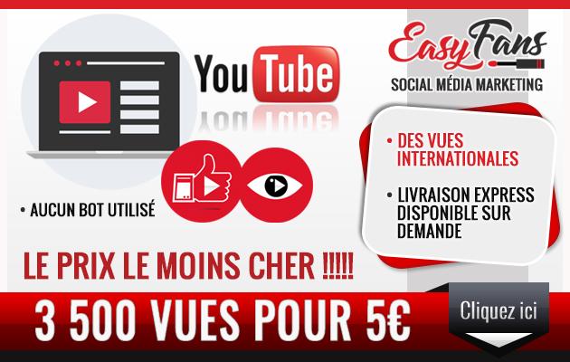 vous fournir 3500 vues YouTube Réelles
